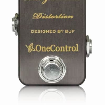 One Control Anodized Brown Distortion BJF Series FX Guitar Effects Pedal
