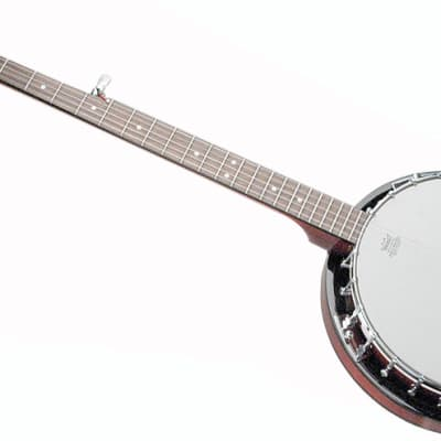 Savannah SB-100-L Left Handed Resonator 24 Bracket 5-String Banjo with Maple Rim for sale