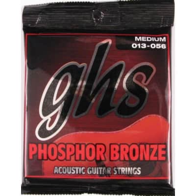 GHS Phosphor Bronze Med 13-56 Acoustic Guitar Strings for sale