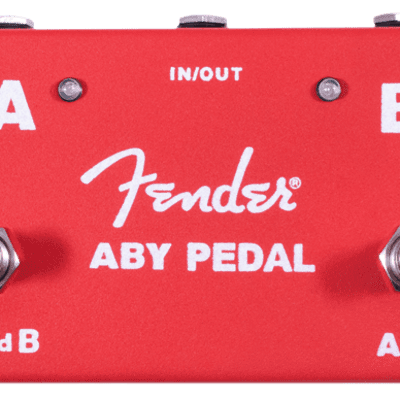 New! Fender® 2-Switch ABY Pedal, Red  2019 - Authorized Dealer - Full Warranty for sale