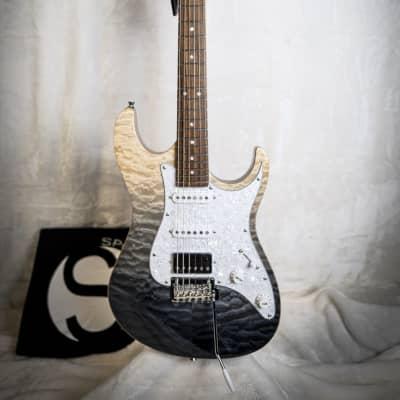 Tagima Stella DW-TBKF-DF/PW Transparent Gray/Black Fade Electric Guitar for sale