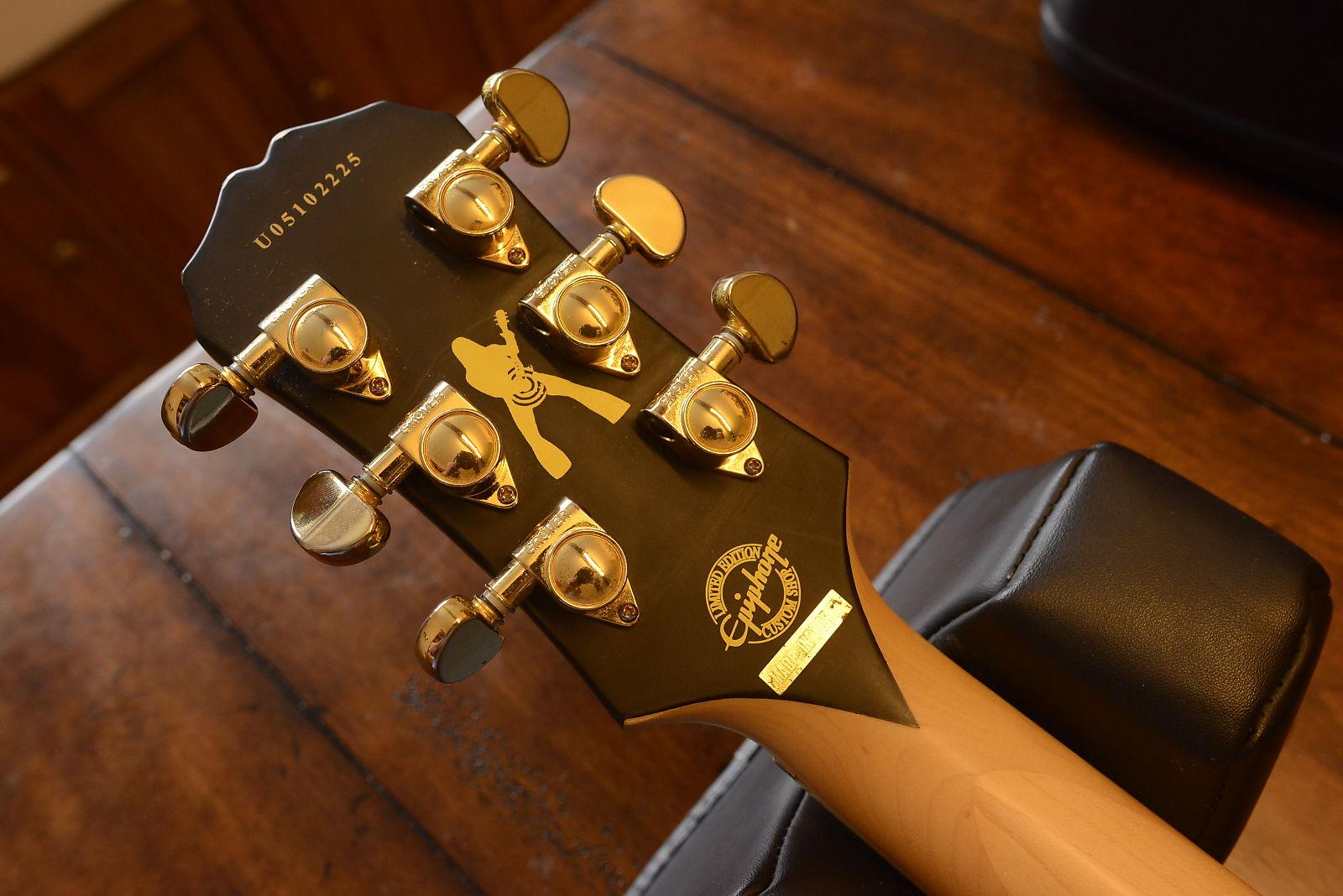 Epiphone Custom Shop Zakk Wylde Signature Gibson Les Paul Camo Bullseye  EMG's and Case! Korea model!