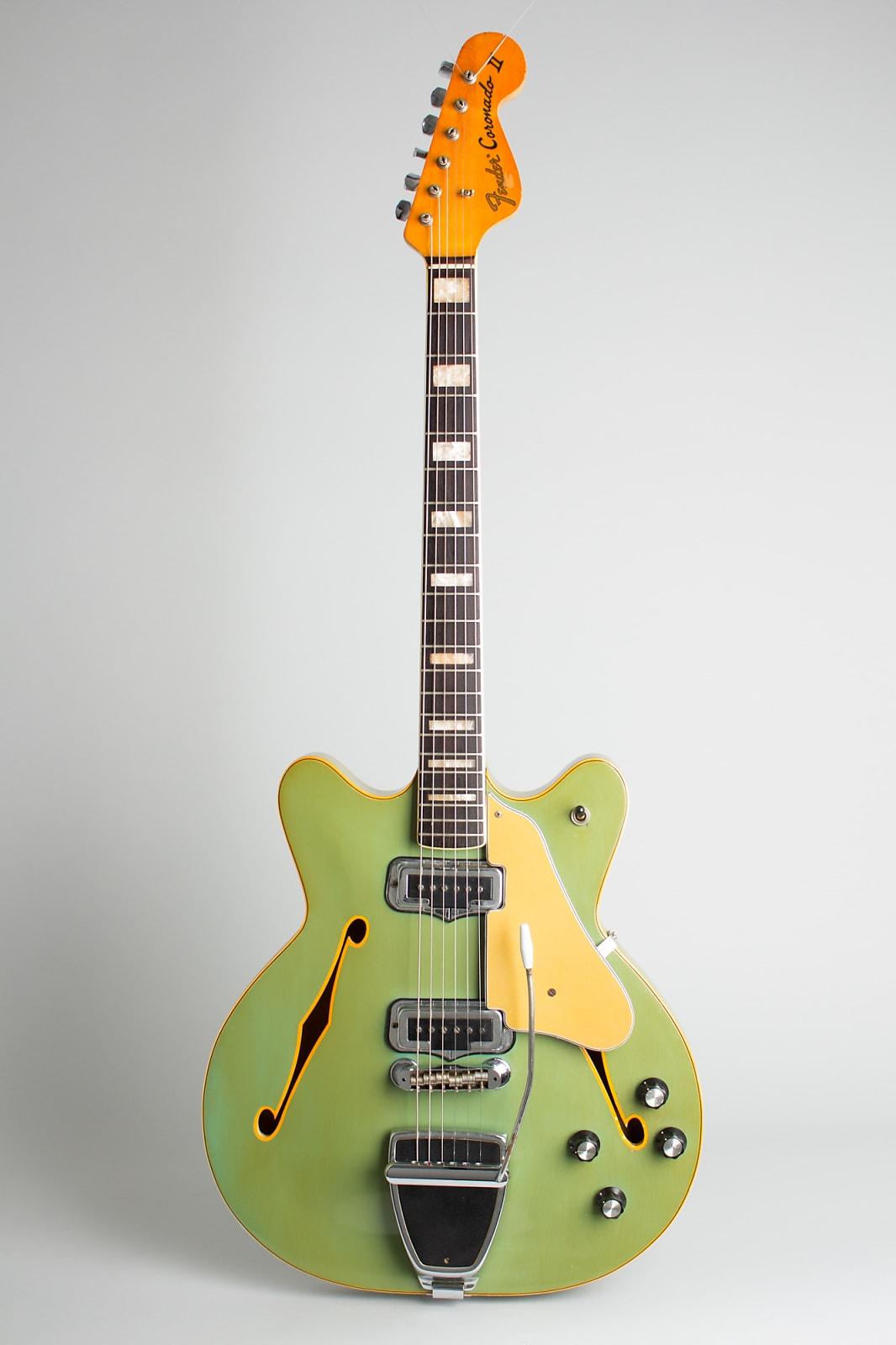 Fender  Coronado II Thinline Hollow Body Electric Guitar (1970), ser. #314355, original black chipboard case.