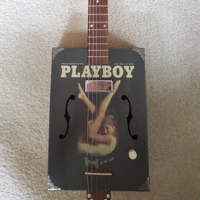 New PRICE DROP - Daddy Mojo 6-String Cigar Box Guitar – Playboy Series with Hard Case for sale