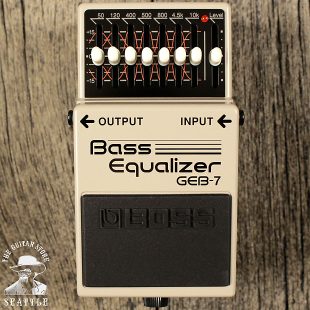 Boss GEB-7 7-Band Graphic Bass Equalizer   The Guitar Store