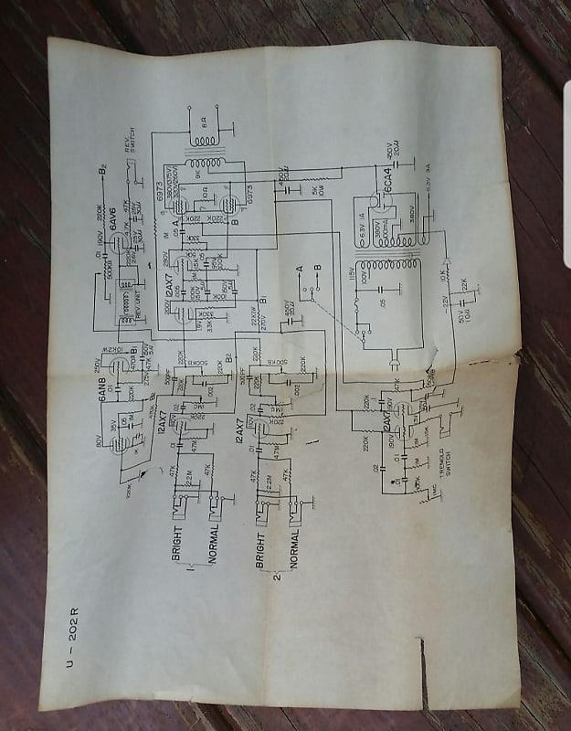 Need Schematic for Univox U202R on