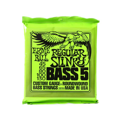 Ernie Ball 2836 Regular Slinky Nickel Wound Electric Bass Strings - .045-.130 5-string