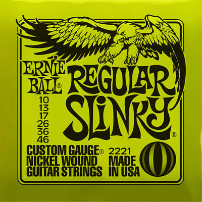 Ernie ball Slinky Nickelwound Regular Slinky Guitar Strings 10 - 46 for sale