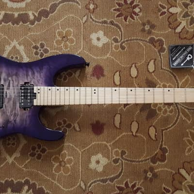 2018 Charvel Pro Mod DK24 HH HT M Quilted Maple in Purple Phaze with Pro Setup! for sale