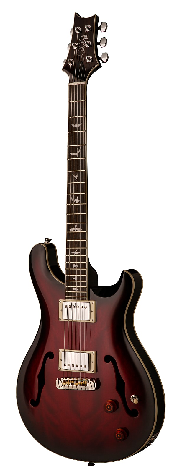 Paul Reed Smith PRS SE Hollowbody Standard Electric Guitar Fire Red Burst w/ Ha