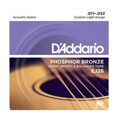 D'Addario EJ26 Acoustic Strings 11-52