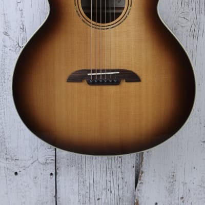 Alvarez ABT60E Baritone Acoustic Electric Guitar Shadow Burst w Hardshell Case for sale