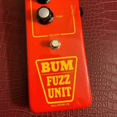 Sola Sound  Red BUM fuzz tone bender B.U.M. Tonebender D.A.M. 2018 Red for sale