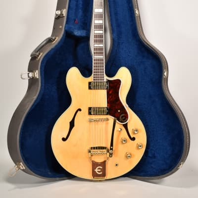 1965 Epiphone Sheraton Natural Finish Vintage Semi-Hollow Electric Guitar w/OHSC for sale