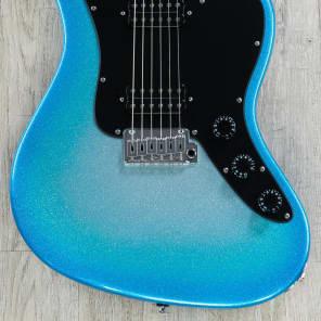 Suhr Classic JM HH Electric Guitar Indian Rosewood Fretboard Custom Blue Sparkle