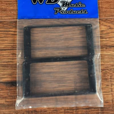 WD Music Products HMRB Slanted Black Plastic 1 High, 1 Low Pickup Mounting Ring Set For Guitar Humbu for sale