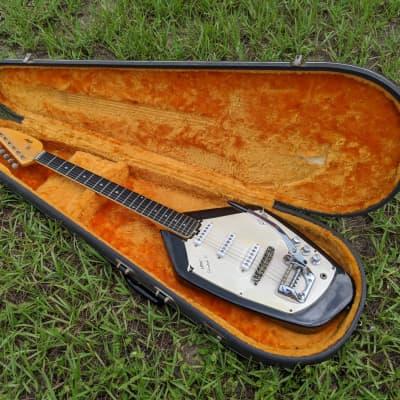 Vintage Vox Phantom VI 1960s Black With Original Hard Case Great Shape But Needs Pickguard for sale