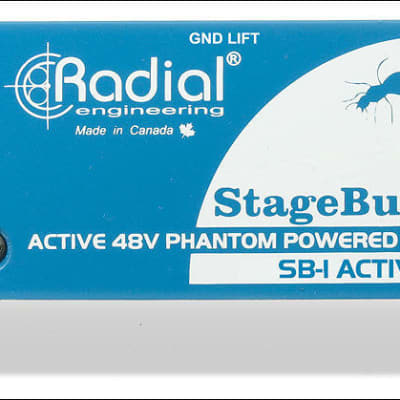 Radial Engineering SB-1 Active DI for acoustic guitar & bass, 48V Phantom