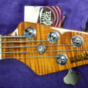 Ernie Ball Music Man BFR Fretless StingRay 5,  Sierra Burst w/Roasted Maple *LTD To 70 World Wide!