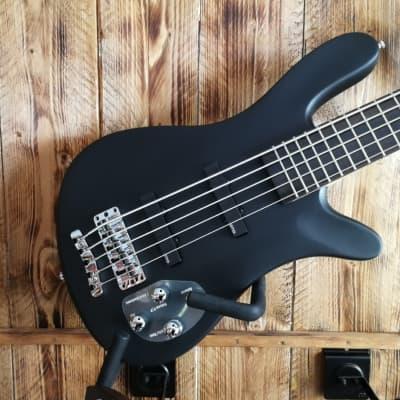 Warwick RockBass Artist Line Robert Trujillo/Metallica, 5-String - Solid Black Satin for sale