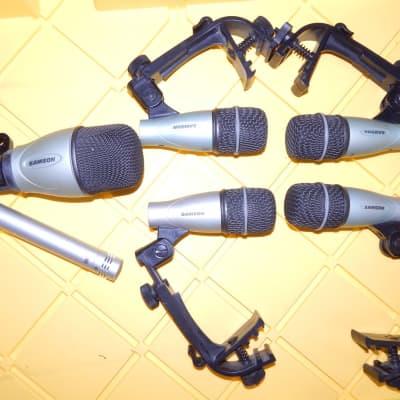 Samson C 02 q kick sanre tom microphone set 6 mics total