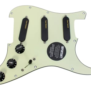 920D Custom Shop 93-35-13 Lace Sensor Gold Loaded Strat Pickguard