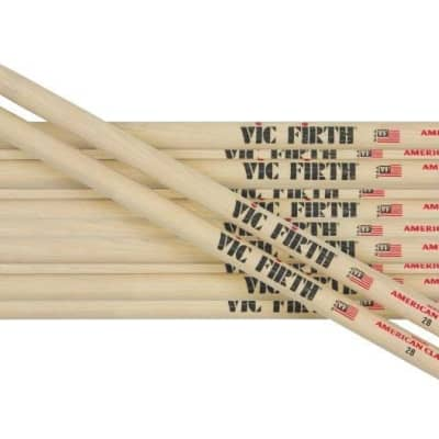 Vic Firth 6-Pair American Classic Hickory Drum Sticks Nylon 7A