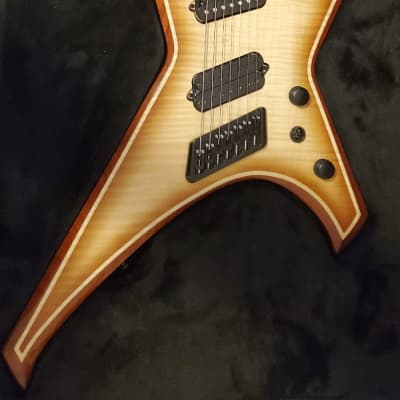 Ormsby Metal X 7 Ice Tea MultiScale Fanned Stainless Steel Frets 7-string Set Neck