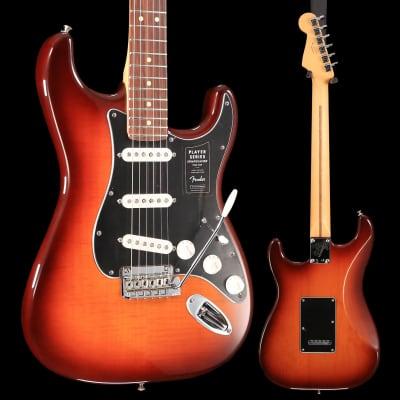Fender Player Stratocaster Plus Top, Pau Ferro Fingerboard, Tobacco Sunburst S/N MX18167945