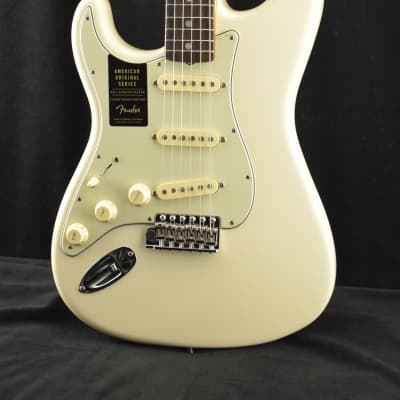 Fender American Original '60s Stratocaster Left-Hand RW Olympic White for sale