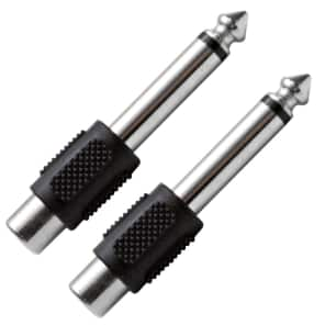 "Seismic Audio SAPT100-2PACK RCA Female to 1/4"" TS Male Cable Adapters (Pair)"