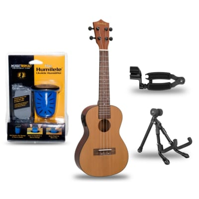 Mitchell MU50SE Acoustic-Electric Concert Ukulele Deluxe Package for sale