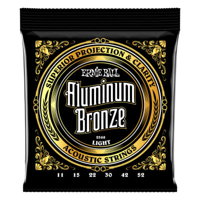 Ernie Ball 2568 Aluminum Bronze Acoustic Strings .011-.052