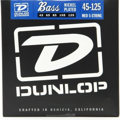 Dunlop DBN45125 Nickel Wound Bass Strings, Medium