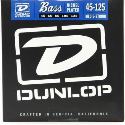 Dunlop DBN45125 Nickel Wound Bass Strings, Medium