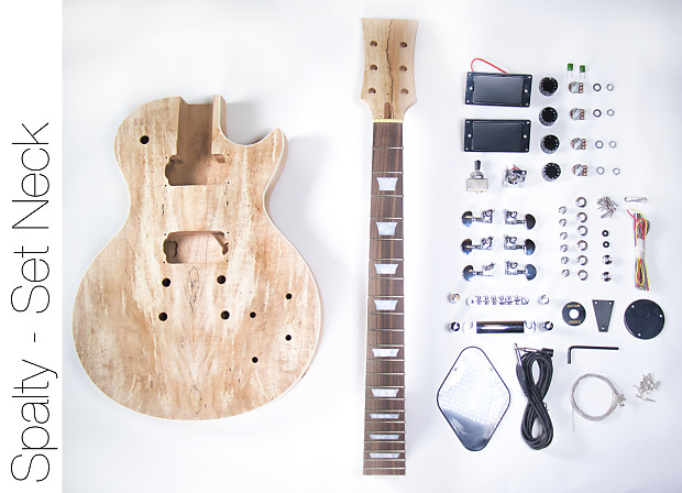 Do it yourself diy electric guitar kit lp spalted maple style reverb do it yourself diy electric guitar kit lp spalted maple style buld your own solutioingenieria Image collections