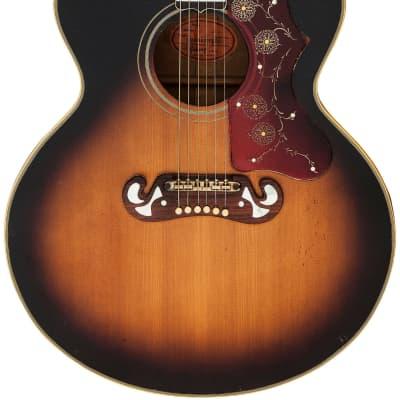 """1963 Gibson J-200 Custom Sunburst with """"Cali-Girl"""" Case"""