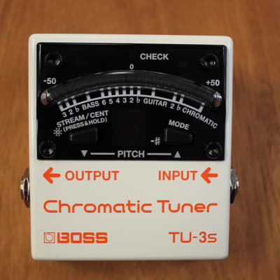 2018 Boss TU-3S Chromatic Guitar Bass Tuner for sale