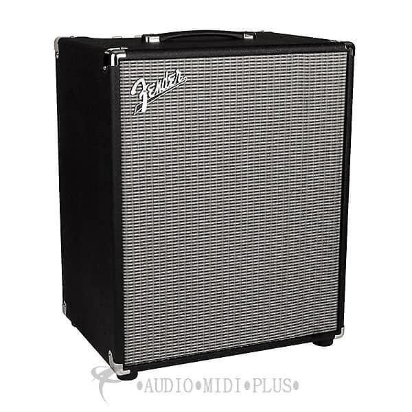 fender rumble 200 120 v bass amplifier black silver reverb. Black Bedroom Furniture Sets. Home Design Ideas
