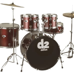 """ddrum D2BR 5pc Drum Set with Cymbals and Hardware (10x8/12x9/16x14/22x18/5.5x14"""")"""