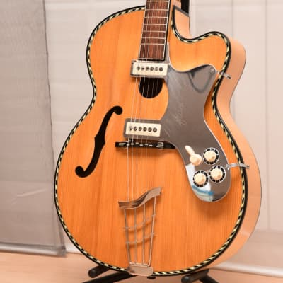 Hüttl Pique Dame – RARE blonde – 1961 German Vintage Archtop Jazz Guitar / Gitarre for sale