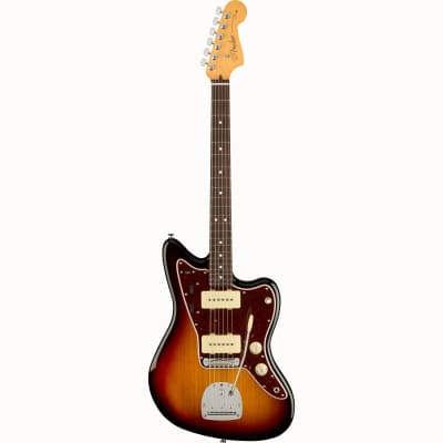 Fender American Professional II Jazzmaster 3-Tone Sunburst RW Electric Guitar with Case for sale