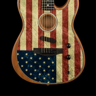 Fender Limited Edition American Acoustasonic Telecaster - American Flag #7477A
