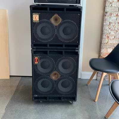 Eden Amplification 410XLT, 210XLT, Navigator Preamp, QSC RMX2450 2000's for sale