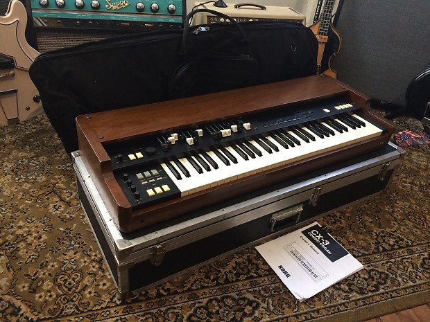 Korg CX-3 Organ (Hammond B3 Clone) Complete with Road Case and Soft Case  Very Rare Wow!