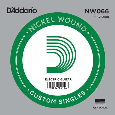 D'Addario NW066 Nickel Wound Single Guitar String .066
