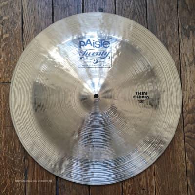 "Paiste 18"" Twenty Series Thin China Cymbal"