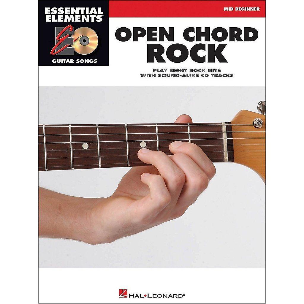 Hal Leonard Open Chord Rock Essential Elements Guitar Songs Reverb