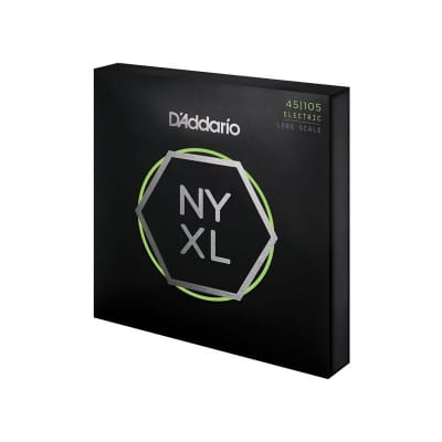 D'Addario NYXL45105 Nickel Wound Bass Guitar Strings Light Top / Med Bottom 45-105 Long Scale