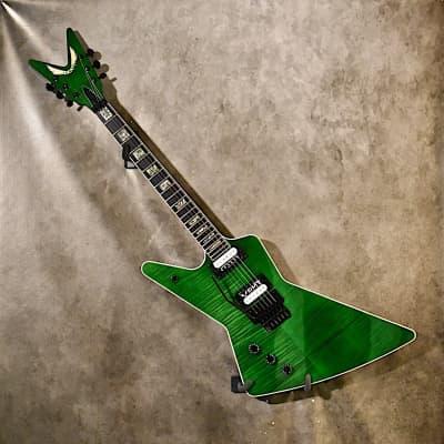 Dean Left Handed Z 79 Floyd Custom 2019 Trans Green Lefty Guitar